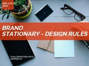 Business Stationary Design Rules